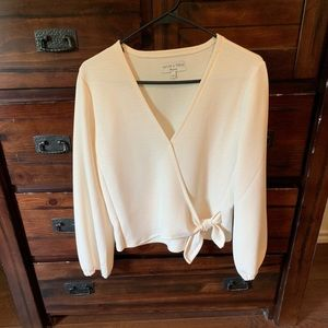 MADEWELL, S, CREPE WRAP IN IVORY